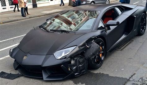 Lamborghini Aventador Crash Matte Black Lamborghini Aventador Crashes In Gtspirit