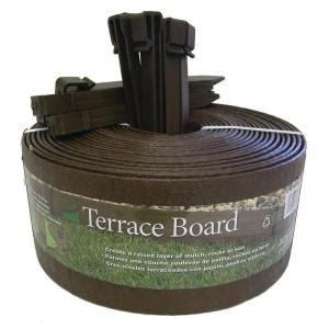 terrace board     ft brown plastic landscape