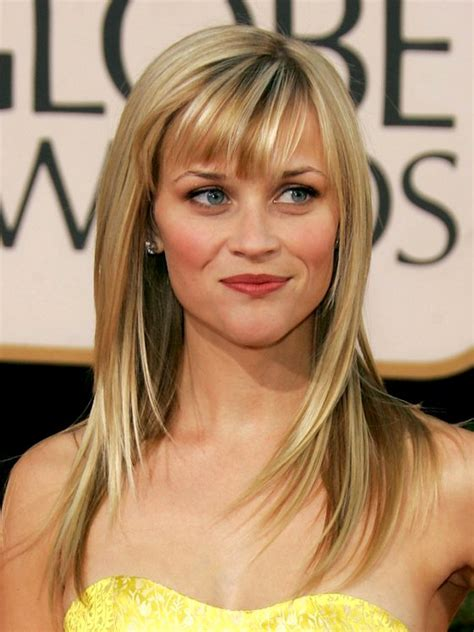 reese witherspoon angled bob reese witherspoon long layers with angled bangs hair