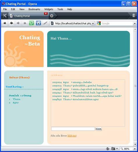 Membuat Website Lan | membuat chating lan dengan ajax ri32 s weblog
