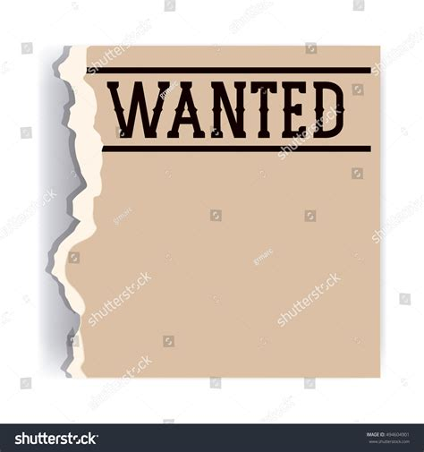 design wanted poster retro vintage wanted poster design stock vector 494604901