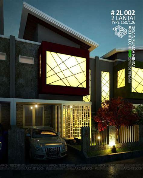 desain rumah  konsep minimalis modern  terdiri   lantai  space antara lain