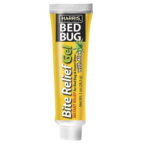 harris bed bug harris 1 oz 4 lidocaine bed bug bite relief gel with aloe instant relief for pain