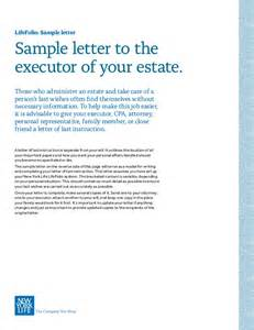 Executor Of Estate Letter Template Lifefolio