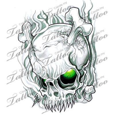 skull smoke tattoo design monster tattoo designs pinterest