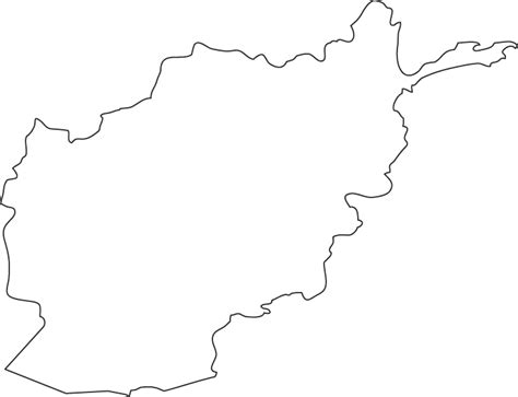 Country Outline by Afghanistan Outline Map