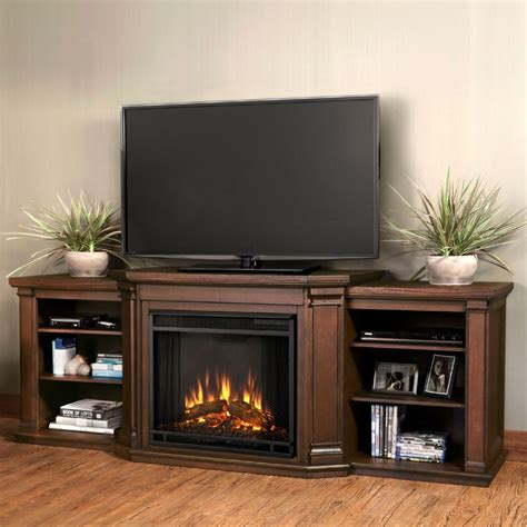 tv stands real 7930e co valmont tv stand w ventless electric fireplace in chestnut oak