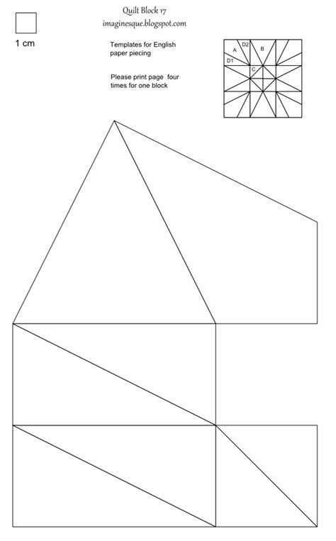 free paper piecing templates imaginesque quilt block 17 templates for epp fabric