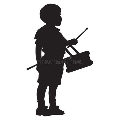 Baterai Boy peque 241 o bater 237 a boy silhouette ilustraci 243 n vector