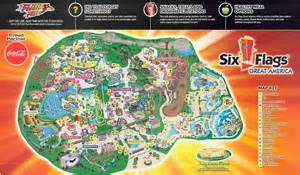 map of six flags six flags chicago map