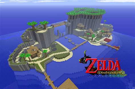legend of zelda map for minecraft wind waker s outset island russer s minecraft creations