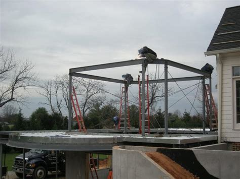 How To Add A Sunroom To A House Steel Framing Of Sunroom