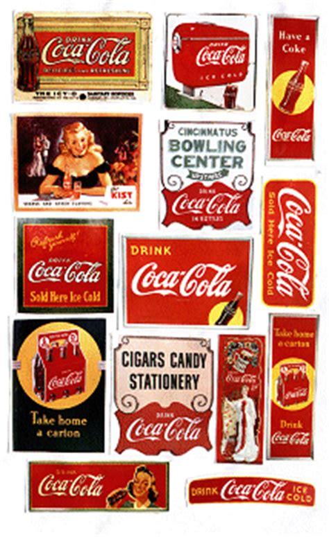 Coca Cola Retro Aufkleber by Large Scale Sticker Sheets Family Garden Trains