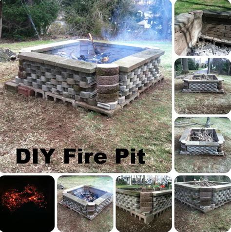 diy pit cinder blocks how to diy a pit for your backyard ideas and