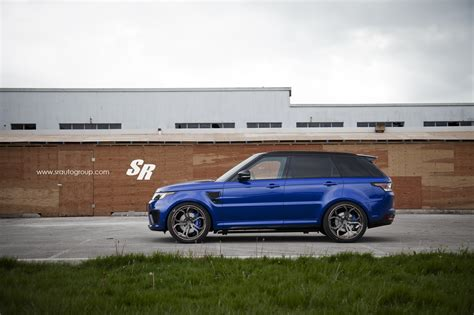 land rover svr range rover sport svr on pur wheels british swag