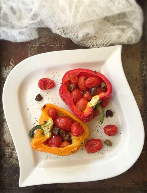 cucina peperoni ripieni peperoni ripieni alla mediterranea in cucina con le mie