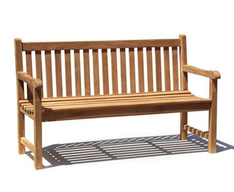5ft garden bench windsor teak 5ft garden bench