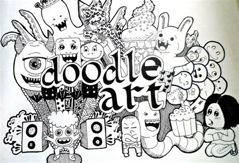 membuat doodle 45 contoh cara gambar doodle simple sederhana