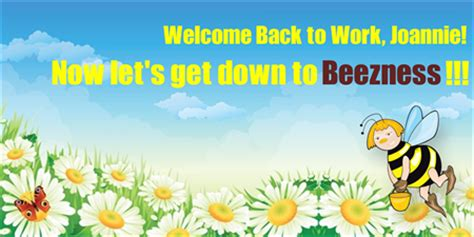 welcome back template welcome back to work card signazon