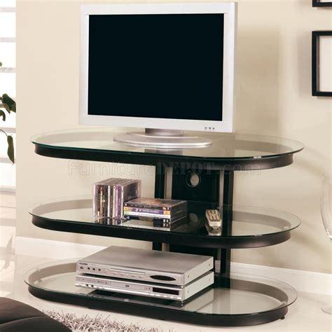 Tv Stand Bookcase Modern Tv Black Metal Frame Modern Tv Stand W Three Glass Shelves