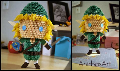 Origami Legend - 3d origami link the legend of by sabrinayen on