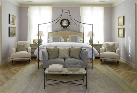 gray purple paint color transitional bedroom benjamin nightingale dillon kyle