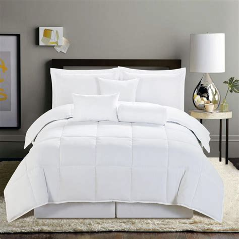White Bed Set by 7 Pc Comforter Set New Soft Reversible Bed In A Bag Black
