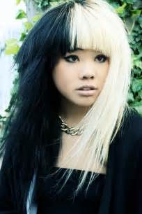 black and white hair color black and white hair the fringe and volume