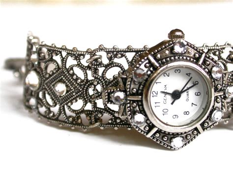 silver filigree bracelet for