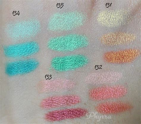 Swatch Rainbow inglot satin rainbow eyeshadow swatches and review