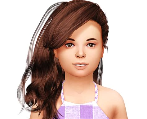 sims 4 kids hair cc lana cc finds stealthic daughter kids version ts4