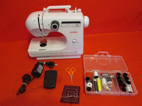 compact sewing machine sunbeam sb1818 compact sewing machine sewing kit missing