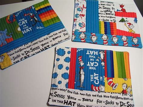 dr seuss rugs dr seuss mug rugs sewing projects cd crafts and mini s
