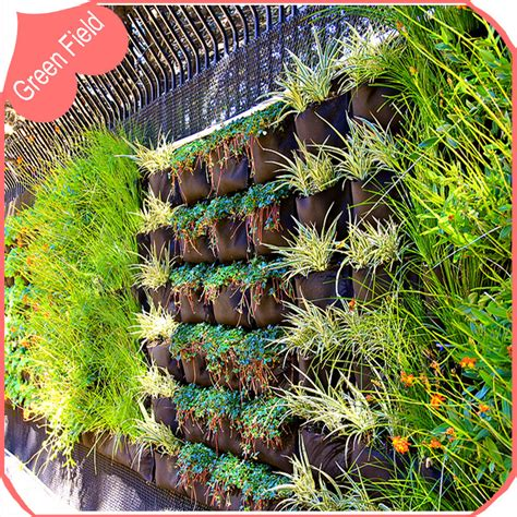 Pocket Vertical Garden Horizontal Pocket Decoration Wall Garden Planter Planting