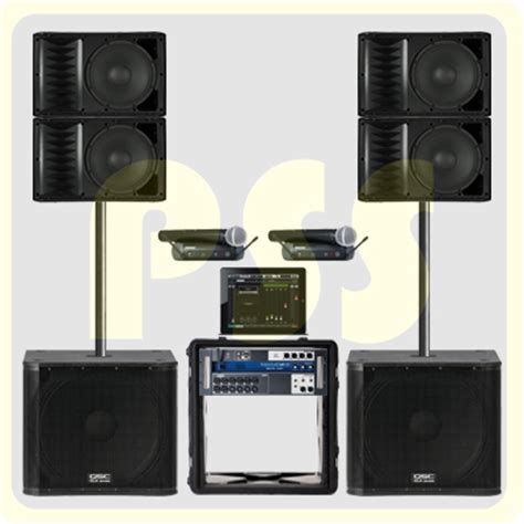 Speaker Aktif Qsc paket groundstack array qsc paket sound system profesional indonesia