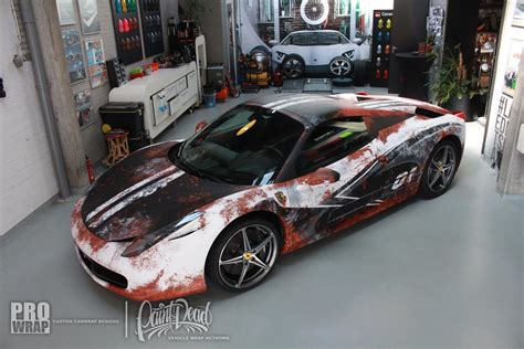 wrapped cars paint is dead ferrari 458 spider gets rust wrap gtspirit