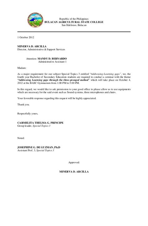 Reservation Letter For Venue Communication Letter For Venue
