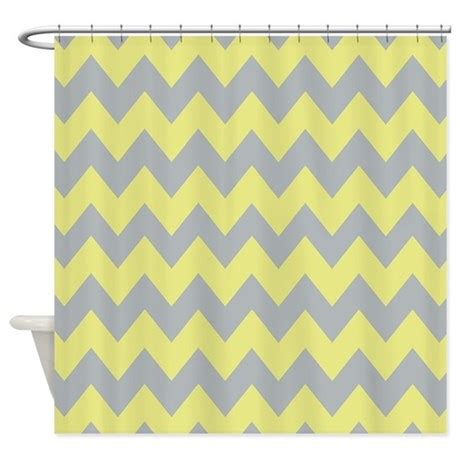 yellow and gray chevron shower curtain gray and baby yellow chevron shower curtain by