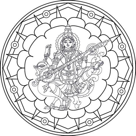 imagenes de mandalas de la india mandala sarasvati 02 mandala en honor a la diosa de las