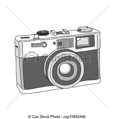 eps vectors of hand drawn of vector camera csp15842494