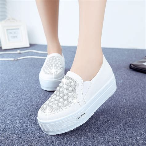 2015 new arrival sneakers platform canvas shoes
