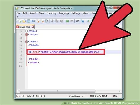 link page7 how to create a link with simple html programming 9 steps