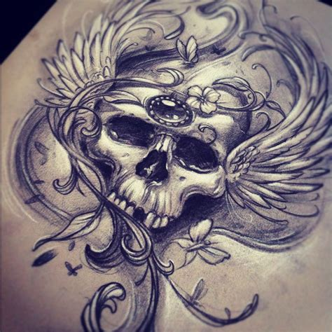 sketch tattoo skull sketches by giannis karetsos