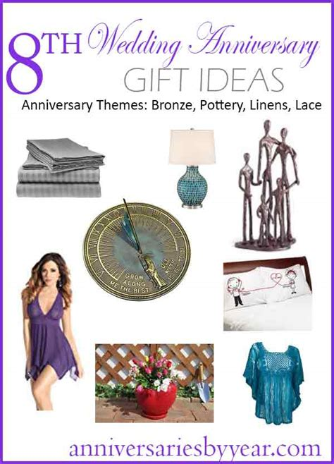 8th anniversary eight wedding anniversary gift ideas