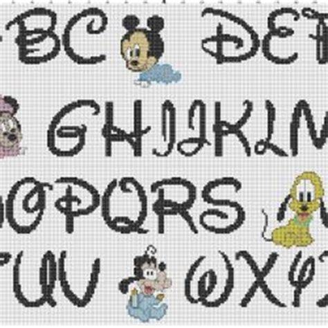 lettere disney punto croce alfabeto in corsivo a punto croce sler gratis punto