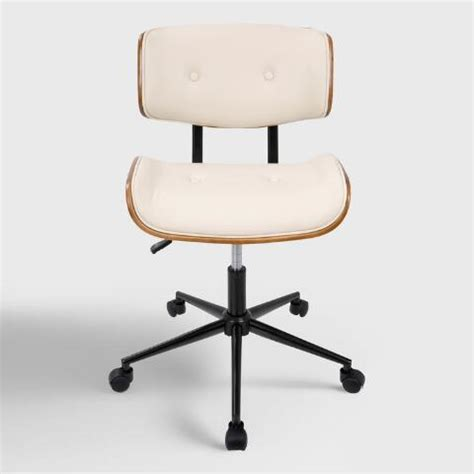 World Market Office Chair by Faux Leather Leander Swivel Office Chair World Market