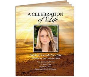 funeral bulletins or obituary programs legal size