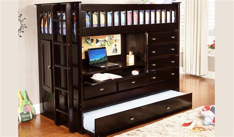 all in one bunk bed with desk discovery world furniture twin over all in one loft bed
