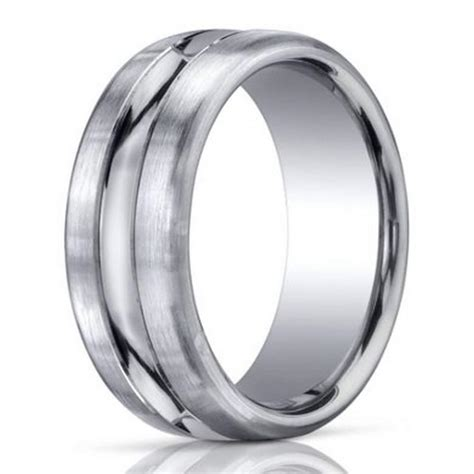 s palladium wedding ring in satin finish 7 5mm