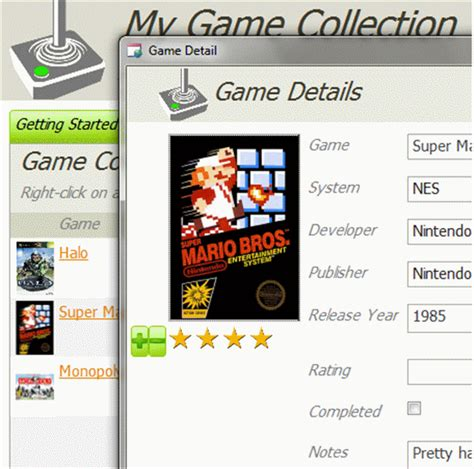 Game Collection Database Template Personal Template Ms Access Templates Collection Database Template